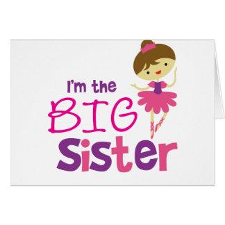 Dance Ballet Big Sister Card