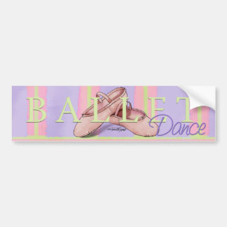 Dance - Ballet Slippers bumper sticker
