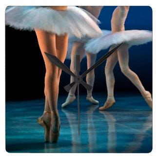 Dance Ballet Square Wall Clock