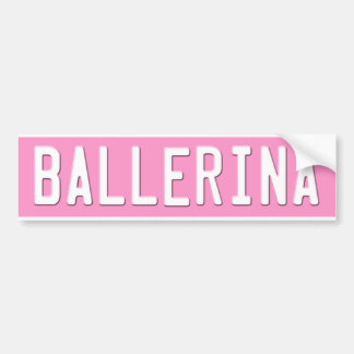 Dance Bumper Sticker Pink License Plate