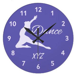 DANCE custom monogram wall clocks