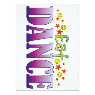 Dance Eat 14 Cm X 19 Cm Invitation Card