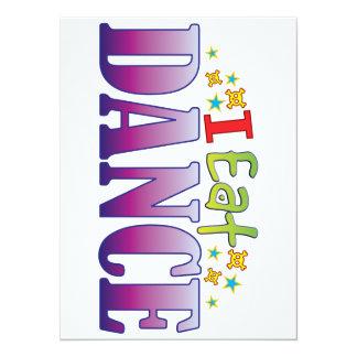 Dance I Eat 14 Cm X 19 Cm Invitation Card