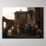 Dance In The Trattoria by Michelangelo Cerquozzi Poster