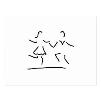 dance latin standard dancer postcard