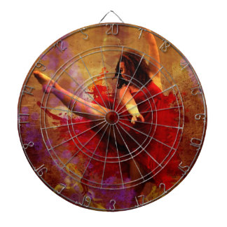 Dance More, Dancer in Red Dress Dart Board