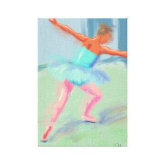 Dance Movement in Blue Canvas Print