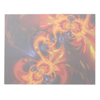 Dance of the Dragons - Indigo & Amber Eyes Notepad