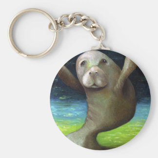 Dance Of The Manatee Key Ring