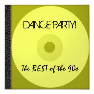 Dance Party CD Invite