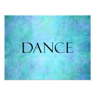 Dance Quote Teal Blue Watercolor Dancing Template Photo Print