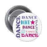 Dance Repeating 6 Cm Round Badge