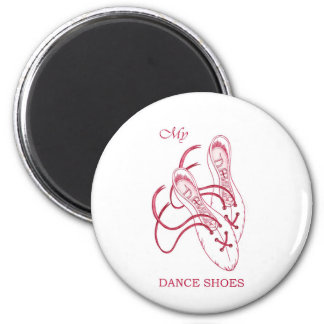 Dance shoes 6 cm round magnet