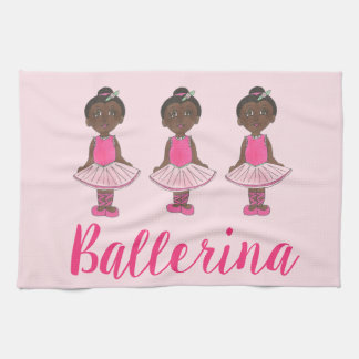 Dance Teacher Gift Pink Ballet Tutu Ballerina Tea Towel