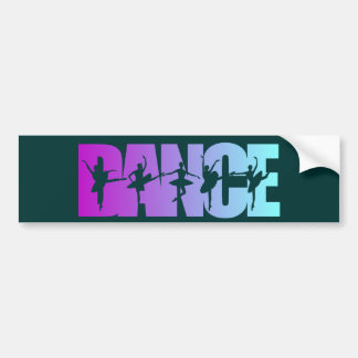 Dance With Dancers Colors Bumper Sticker
