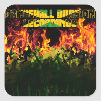 Dancehall Division Recordings Square Sticker