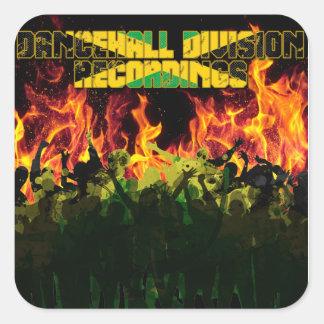 Dancehall Division Recordings Square Sticker