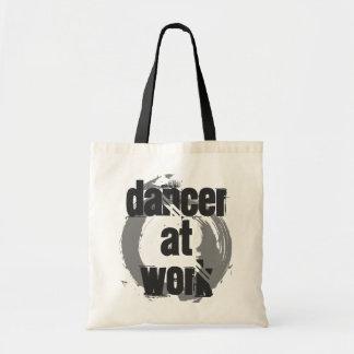 Dancer at Work White/Grey/Black Tote Bag