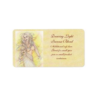 Dancer in the Light Craft Jar Spice Address Label