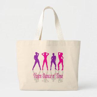 dancer-med-pinknpur large tote bag