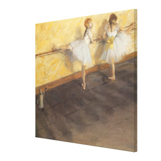 Dancers at the Bar by Edgar Degas, Vintage Ballet Canvas Print
