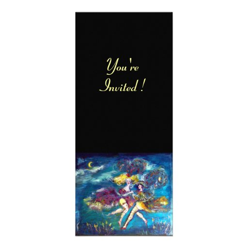 DANCING AND MUSIC IN THE NIGHT CUSTOM INVITATIONS