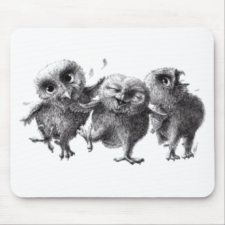 Dancing and singing Owls Mouse Pad