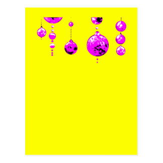 Dancing Balls Magenta Transp MUSEUM Zazzle Gifts Postcards