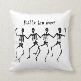 Dancing Bones Throw Pillow