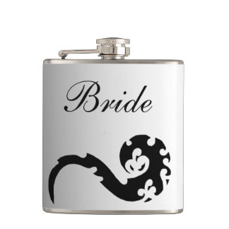 Dancing Dragon Wedding Brides Hip Flask