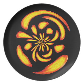 Dancing fire balls party plates