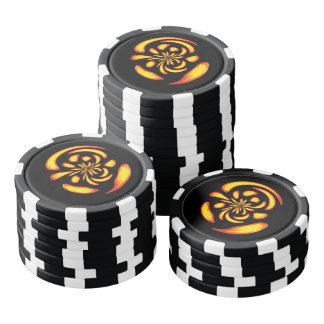 Dancing fire balls poker chip set