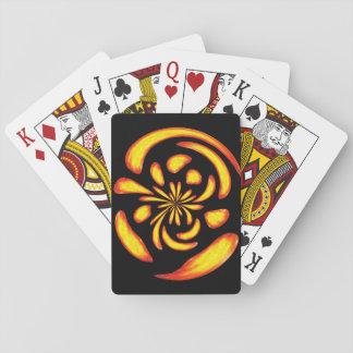 Dancing fire balls poker deck