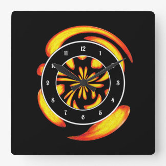 Dancing fire balls wallclocks