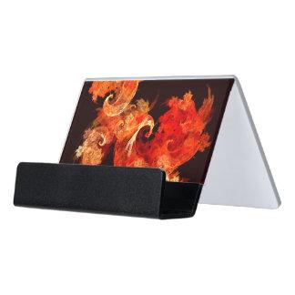 Dancing Firebirds Abstract Art Desk Business Card Holder