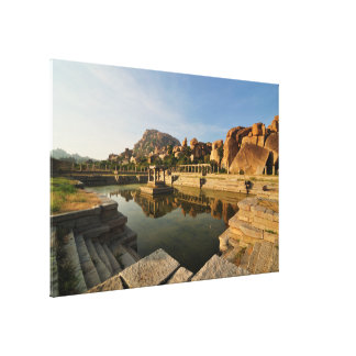 Dancing Girls Bath Ancient Courtesan Street Hampi Gallery Wrapped Canvas