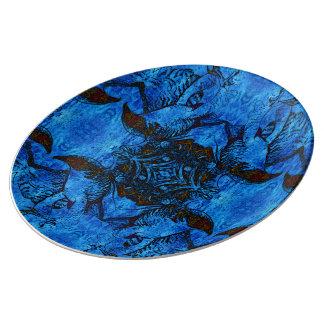 Dancing Hawk Mandala Plate