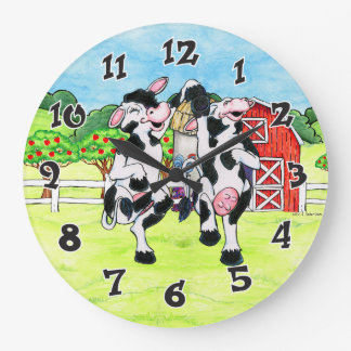 Dancing Holstein Cow clock