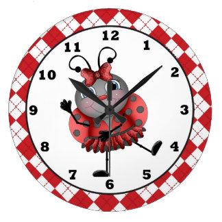 Dancing Ladybug fun wall clock