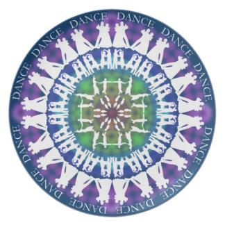 Dancing Mandala Plate 4