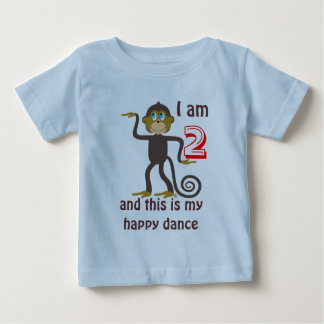 Dancing monkeys, 2nd birthday, personalised baby T-Shirt