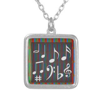 Dancing Music Symbols Fans Students Masters Player Necklace