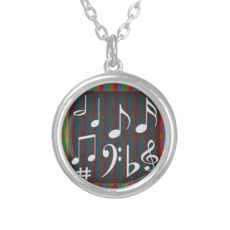 Dancing Music Symbols Fans Students Masters Player Personalized Necklace