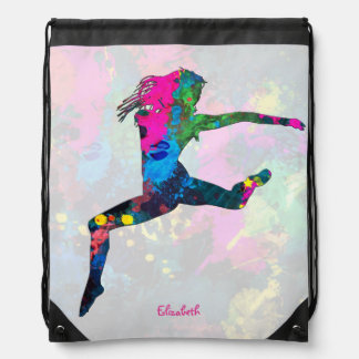 Dancing People Abstract Colors Backpack