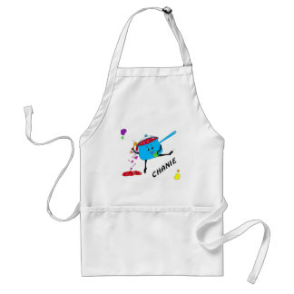 dancing pot with hearts 05 CHANIE Standard Apron
