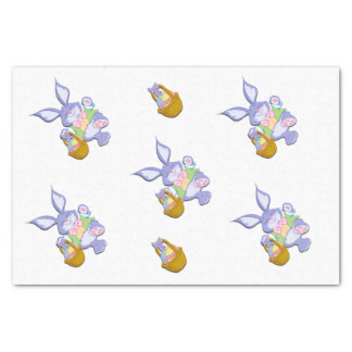 Dancing Purple Easter Bunny Lavender Tissue Paper