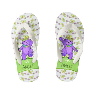 Dancing Purple Princess Teddy Bears Custom Thongs