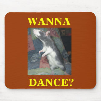 DANCING RAT MOUSE PAD