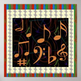Dancing Sheet Music Symbols Print