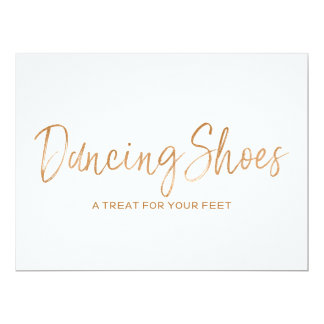 """""""Dancing Shoes"""" Wedding Sign 